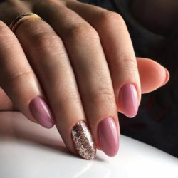 Cute oval nails photo
