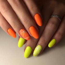 Orange nails photo