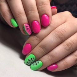 Bright summer nails photo