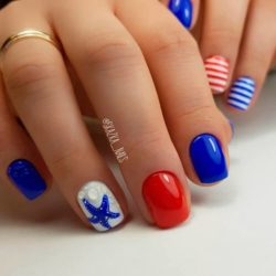 Striped nails photo