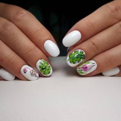 White nail art photo