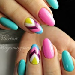 Multi-color nails photo