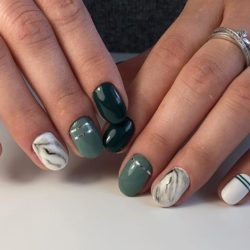 Short nails art photo